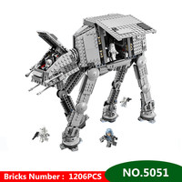 1206pcs Diy Star Series Wars Force Awaken AT Transpotation Armored Robot Compatible With Legoingly 75054 Blocks Bricks Toys