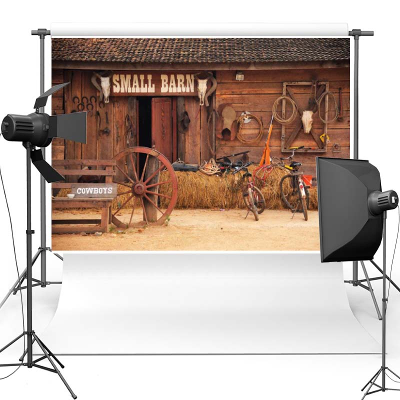 Cowboy Vinyl Photography Background For Family New Fabric Flannel Backdrop For Children photo studio F2740 crazy for the cowboy
