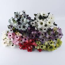 1 pack of 21 head daisy silk wedding bouquets for new year holiday family fake decoration artificial flower sunflower pl
