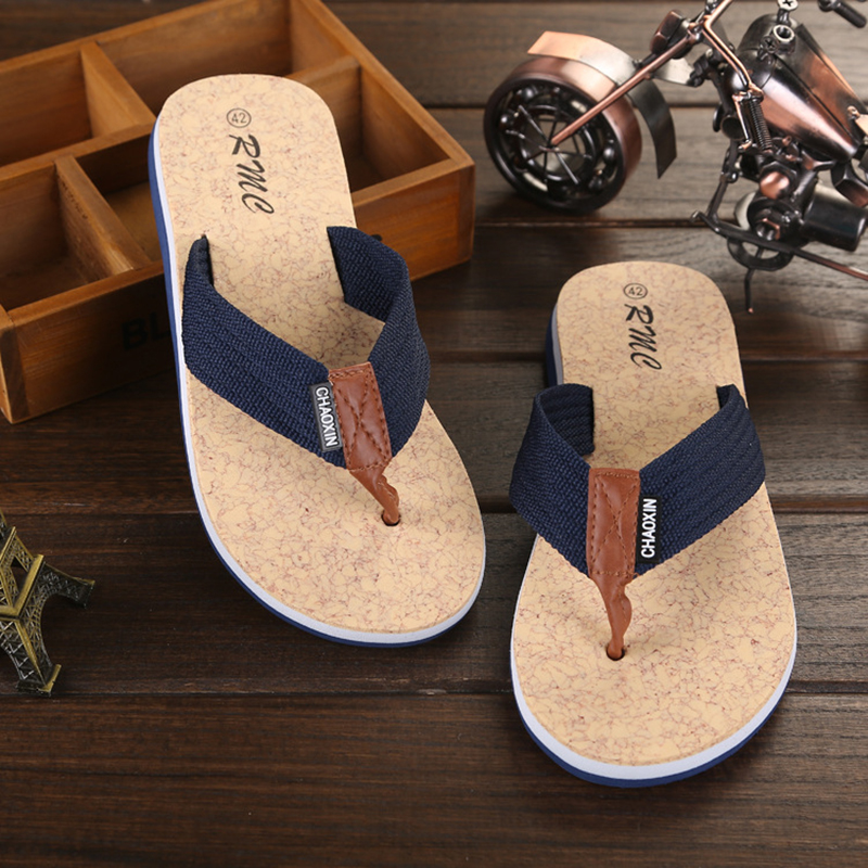 Summer Men Flip Flop Shoes Sandals Male Slipper Indoor Or Outdoor Beach Flip Flops Men Fashion Beach sandals free delivery(China)