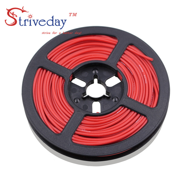 20 meters/roll  18AWG high temperature resistance Flexible silicone wire tinned copper RC power cord Electronic cable