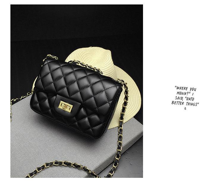 367d9e5e8aa9 Jollque 6 Colors Mini Jelly Bag Metal Chain Belt Party Famous Brand Shoulder  Message Bags Small PVC Quilted Handbag Gift ChildUSD 29.60-35.60/piece