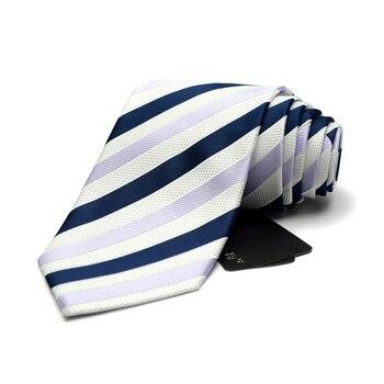 Ties for Men Jacquard Weave Striped Necktie Fashion 9cm Tie Cravats for Business Formal Work gravatas para homens with Gift Box
