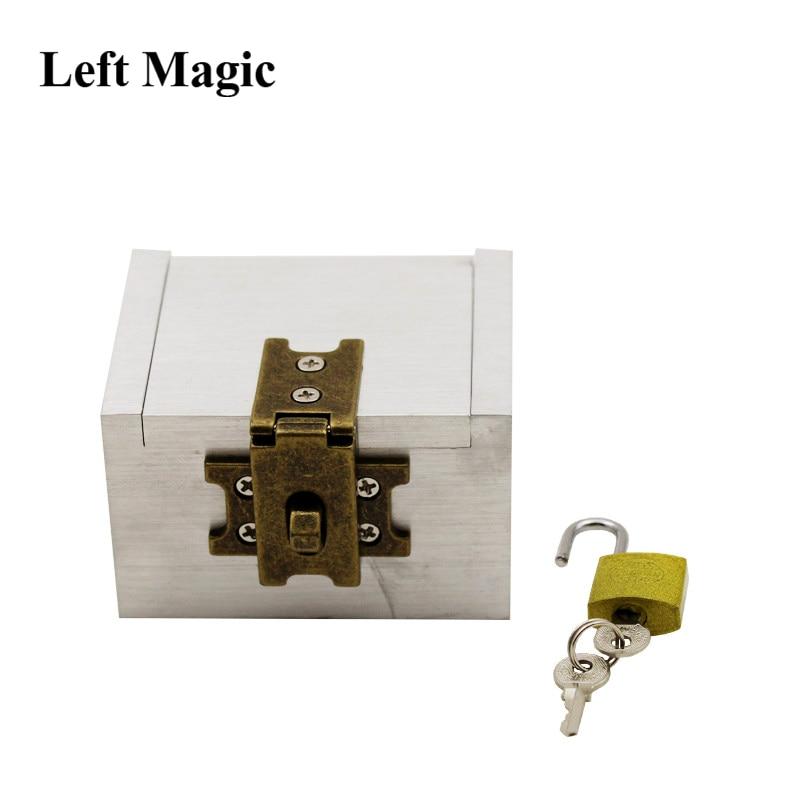 The Strong Box By Joe Porper Card Magic Tricks Mental Prediction Aluminum Iron Box Magic Prop Dice Comedy Stage Magic