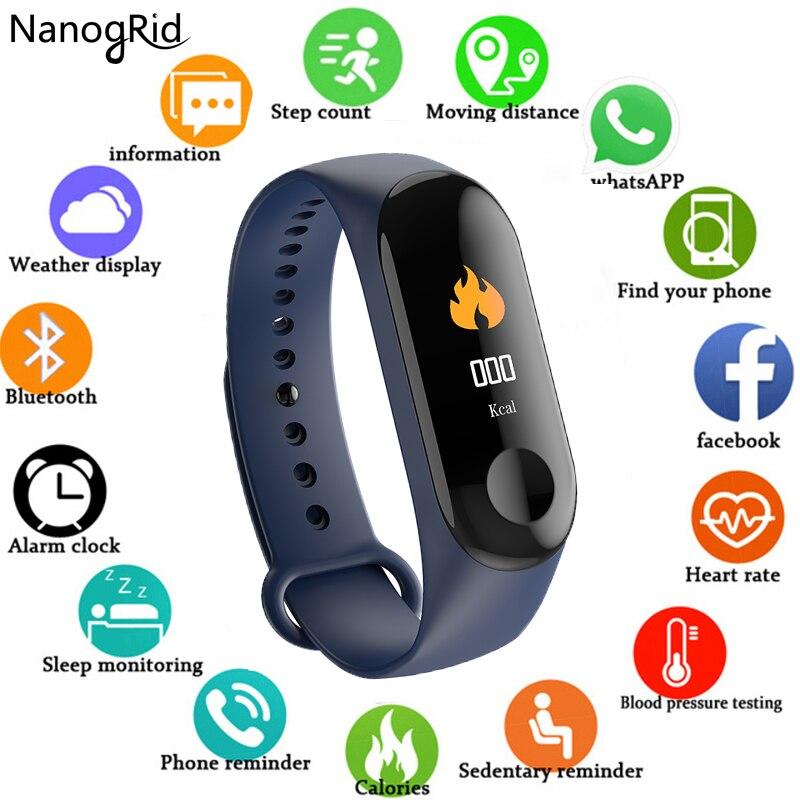 New M3 Wristband Smart Color Screen Bracelet Heart Rate Monitoring Wristbands Fitness Running Tracker Sports Men & Women Band