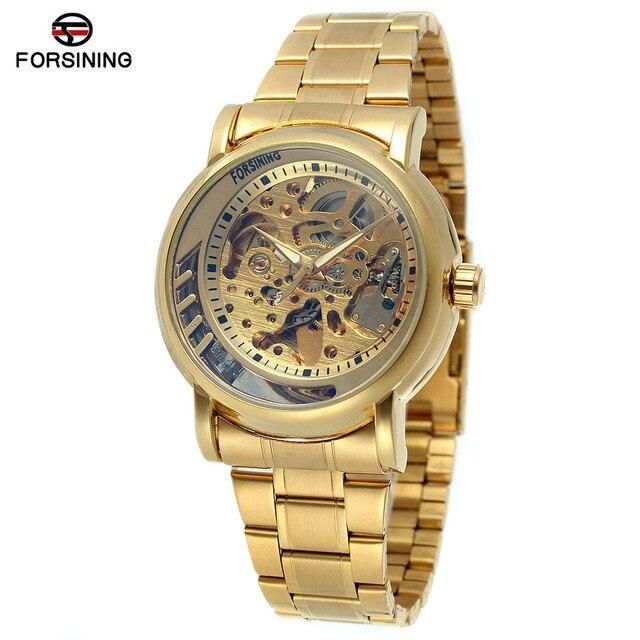 511ae65297b3 Vendidos de Hombre Forsining Relojes Famosa Marca de Lujo Automático Relojes  de Oro Reloj de Pulsera