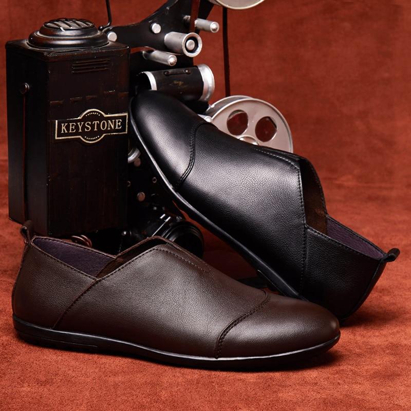 Mens pantofi de moda din piele natural respirabil masiv pantofi - Pantofi bărbați - Fotografie 4