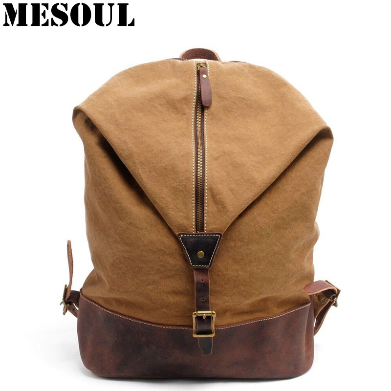 Vintage Military Canvas Backpack Youth School Bags England Style Men Travel Backpack Bag Bolsas Mochila Unisex Large Rucksack стоимость