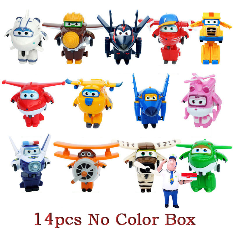 Genuine AULDEY Mini Super Wings Deformation Airplane Robot Toy Action Figures Super Wing Transformation Toys For Children Gift