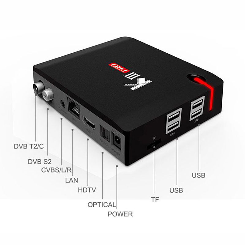 MECOOL KIII Pro 3G 16G DVB T2 S2 C Hybrid Smart TV Box Android 7.1 Amlogic S912 4K HD Set-top Box Dual Wifi Satellite Receiver Multan