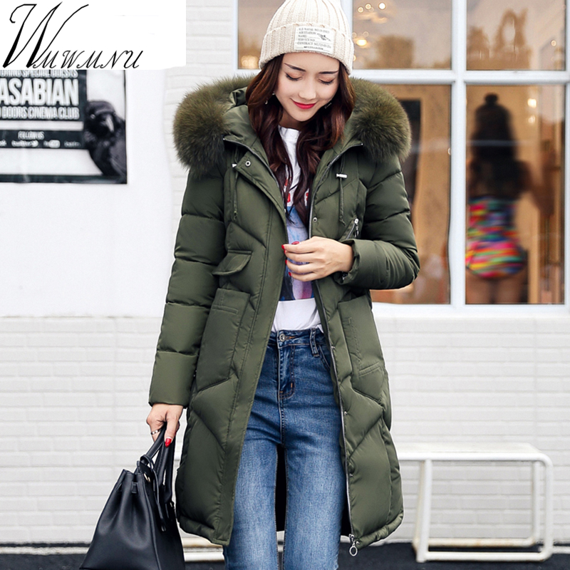 WMWMNU 2017 winter women hooded coat New arrival fur collar thicken warm long jacket  female plus size 3XL outerwear parkas 2015 hot new thicken warm woman down jacket coat parkas outerwear luxury hooded fox fur collar long slim cold plus size 4xxxxl