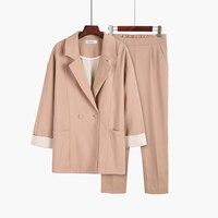 New Women Suit Fashion Slim Business Office OL Jacket Set Formal Blazer + Pants Suit Feminino Female Suit