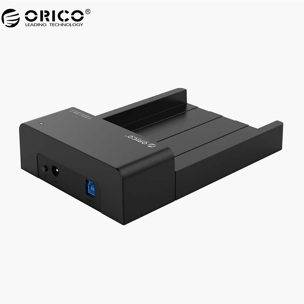 ORICO 6518US3-V2 Super Speed USB 3.0 HDD Hard Drive & SSD Docking Station for 2.5 -inch & 3.5 - inch SATA Support 4TB HDD-Black orico 6518us3 v2 super speed usb 3 0 hdd