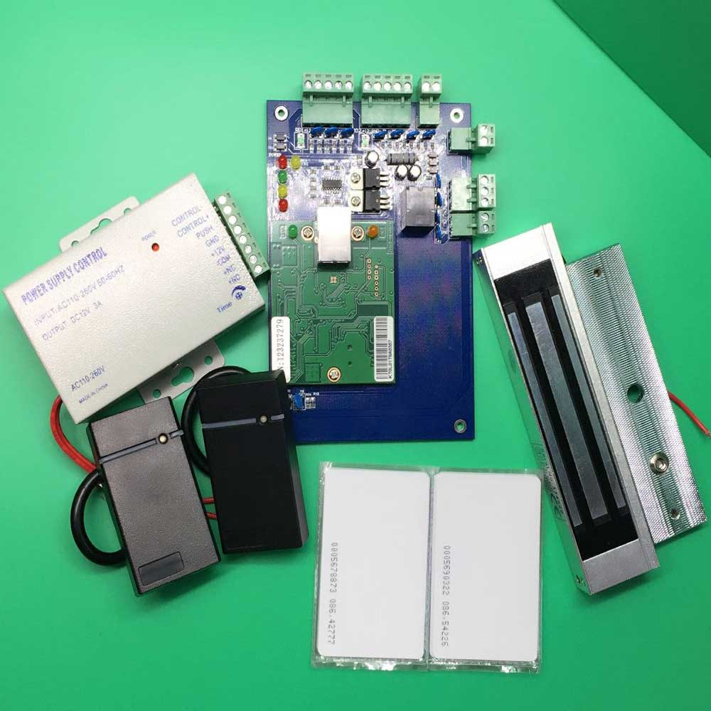 Diy Full Complete Rfid Door Access Control System Kit +Electric Magnetic Lock and Power Supply