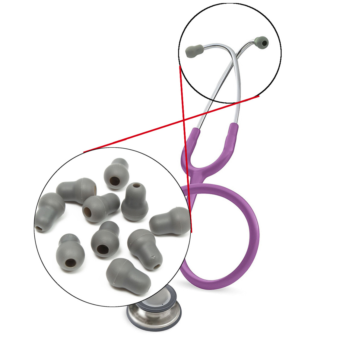 10pcs-super-comfortable-and-soft-stethoscope-earplug-eartips-earpieces-for-littmann-stethoscope