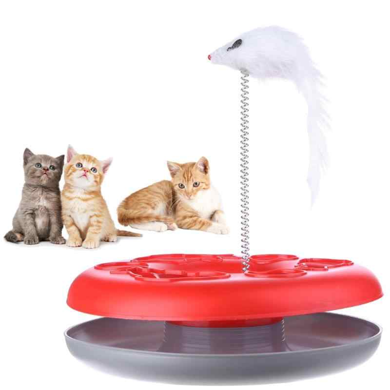 Cat Mouse Toy Crazy Amusement Disk Multifunctional Disk Play Activity Pet Funny Mouse Toys For Cats