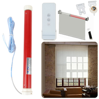 12V Automatic Tubular Electric Curtains Motor Roller Blind Shutters Intelligent Remote Control Lifting DIY Curtain Mayitr