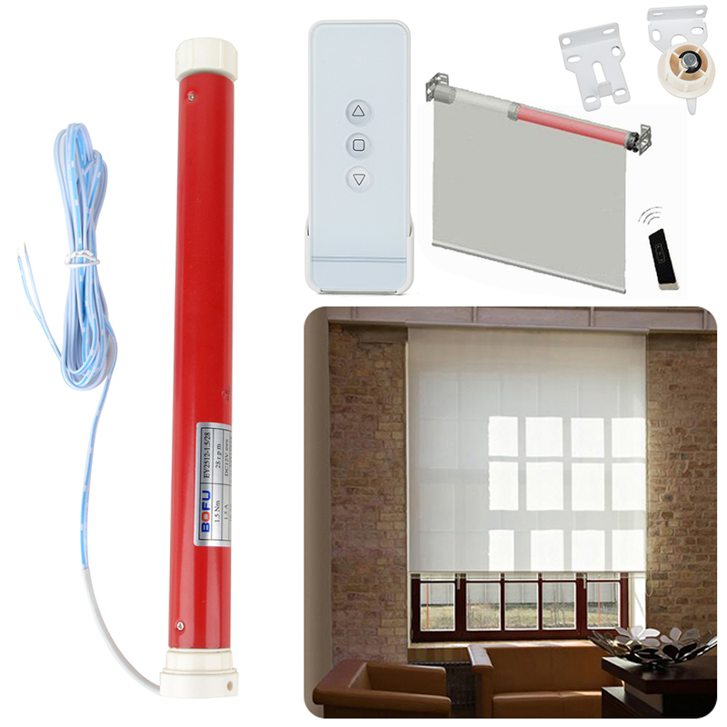 12v Automatic Tubular Electric Curtains Motor Roller Blind