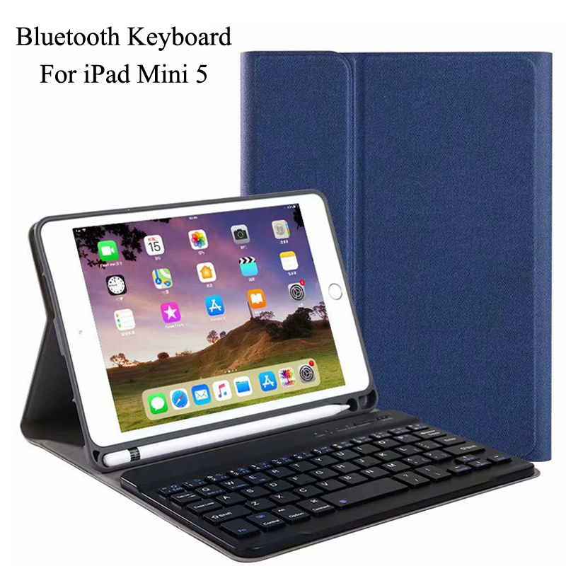 Case For iPad Mini 5 2019 Ultra Thin Detachable Wireless Bluetooth Keyboard With Pen Slot Case cover For iPad Mini5 Mini 5 +GiftCase For iPad Mini 5 2019 Ultra Thin Detachable Wireless Bluetooth Keyboard With Pen Slot Case cover For iPad Mini5 Mini 5 +Gift