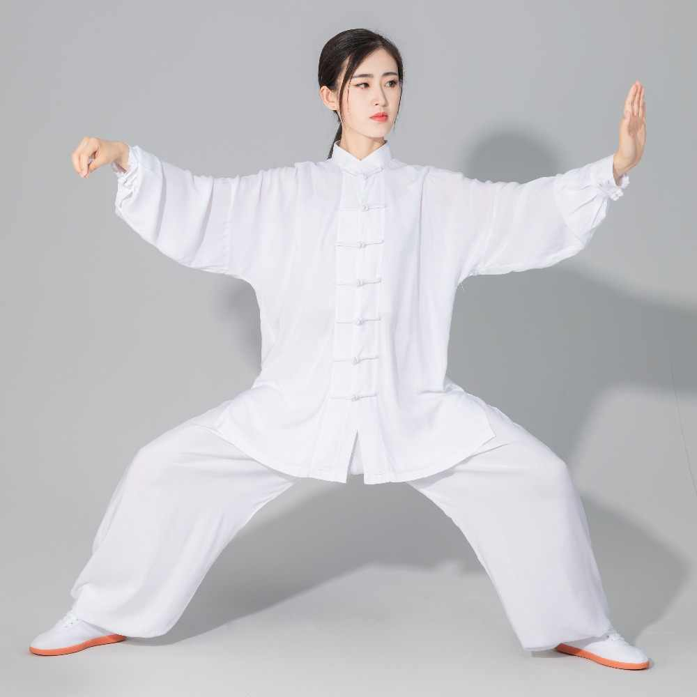 Unisex Hoge Kwaliteit Puur Katoen Tai Chi Taiji Kung Fu Uniformen Kleding Shaolin Wushu Vechtsporten Pakken Beige/Blauw/Zwart/Grijs