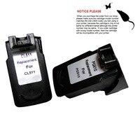 YOTAT Cartucho de Tinta Remanufactured PG-510 PG510 CL511 para Canon IP2700 MP250 MP260 MP270 MP280 Pixma MX320 MX330 MX340 MX350