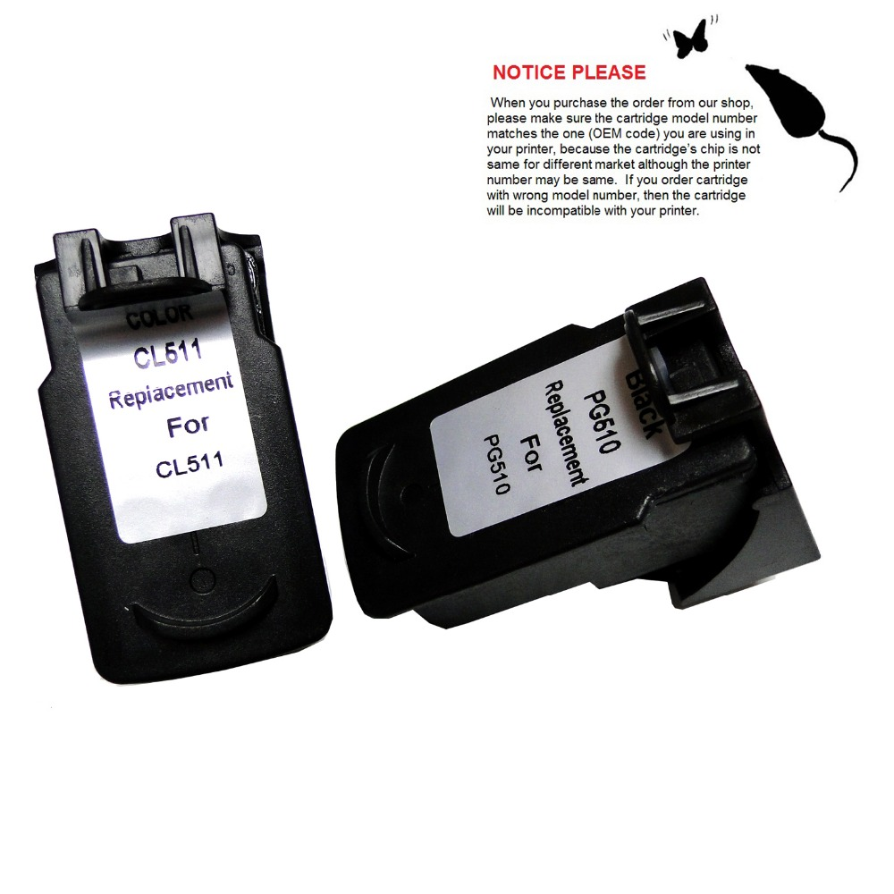 YOTAT Remanufactured <font><b>Ink</b></font> <font><b>Cartridge</b></font> PG-510 PG510 CL511 for <font><b>Canon</b></font> Pixma IP2700 MP250 <font><b>MP260</b></font> MP270 MP280 MX320 MX330 MX340 MX350 image