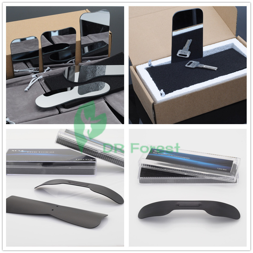 Dentist Glass Photographic Mirror and Oral Cheek Jaw Photographic Black Board dental oral photographic black background board and 4pcs 4pcs stainless steel mirror set