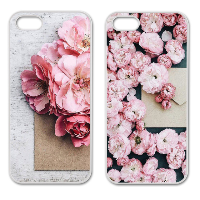 Blossom Cherry Flower Petal Cover Case for iPhone 4 4S 5 5S 5C 6 6S 7 Plus Samsung S3 S4 S5 Mini S6 S7 S8 Edge Plus A3 A5 A7