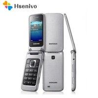 Samsung C3595 Unlocked 3G WCDMA Black Big Buttons Stylish Flip Mobile Phone Refurbished phone High quality refurbished