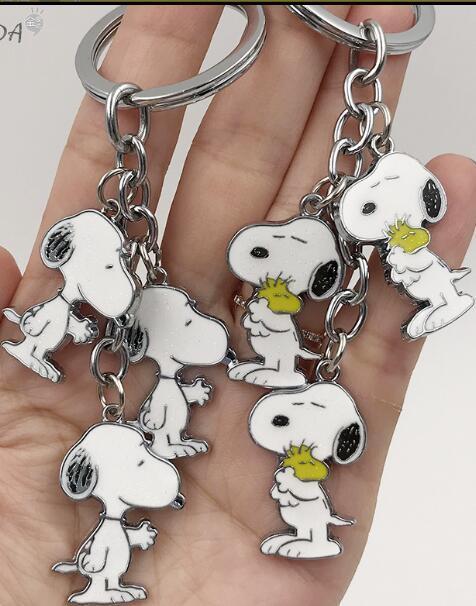 Novo conjunto 1 cães bonitos Dos Desenhos Animados anime Japonês branco Jóias Chaveiro Acessórios Chave Cadeias Pingente Presentes Favores