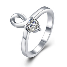Silver jewelry CZ diamond ring woman minimalist fashion style top quality global hot Christmas gift R873