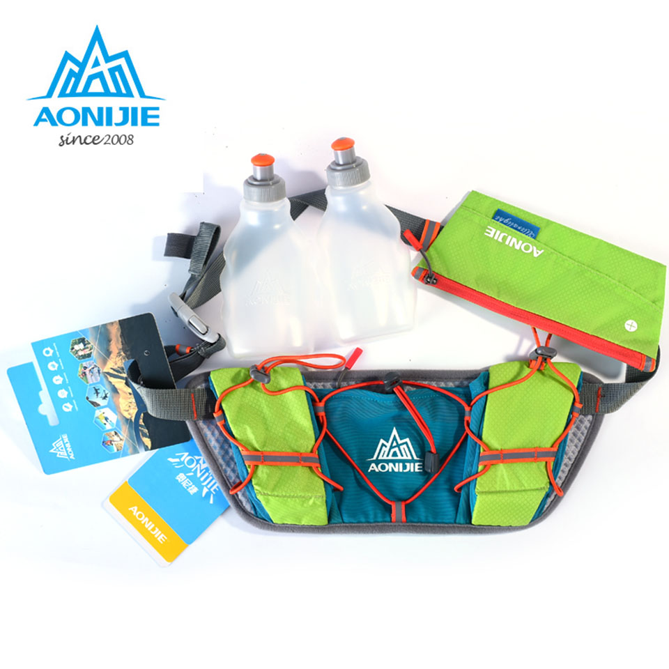 AONIJIE Men Women Waist Packs Running Hydration Belts Bottle Holder Belt Reflective Running Water Belt Fanny Pack