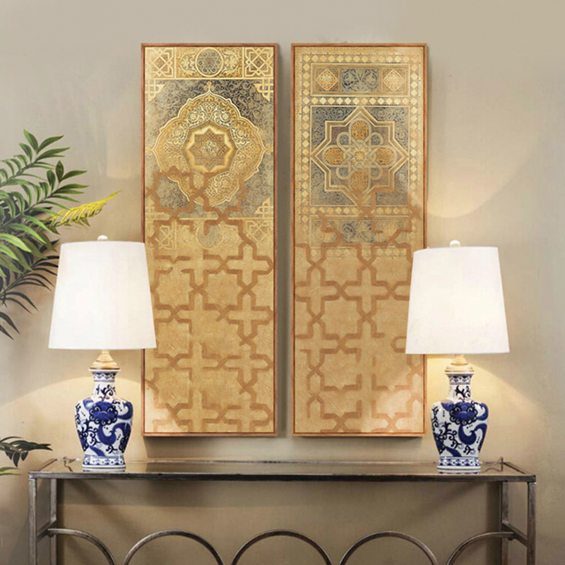 Middle East Turkey Moroccan Style Long Canvas Painting For Living Room Wall Home Decor Tableau