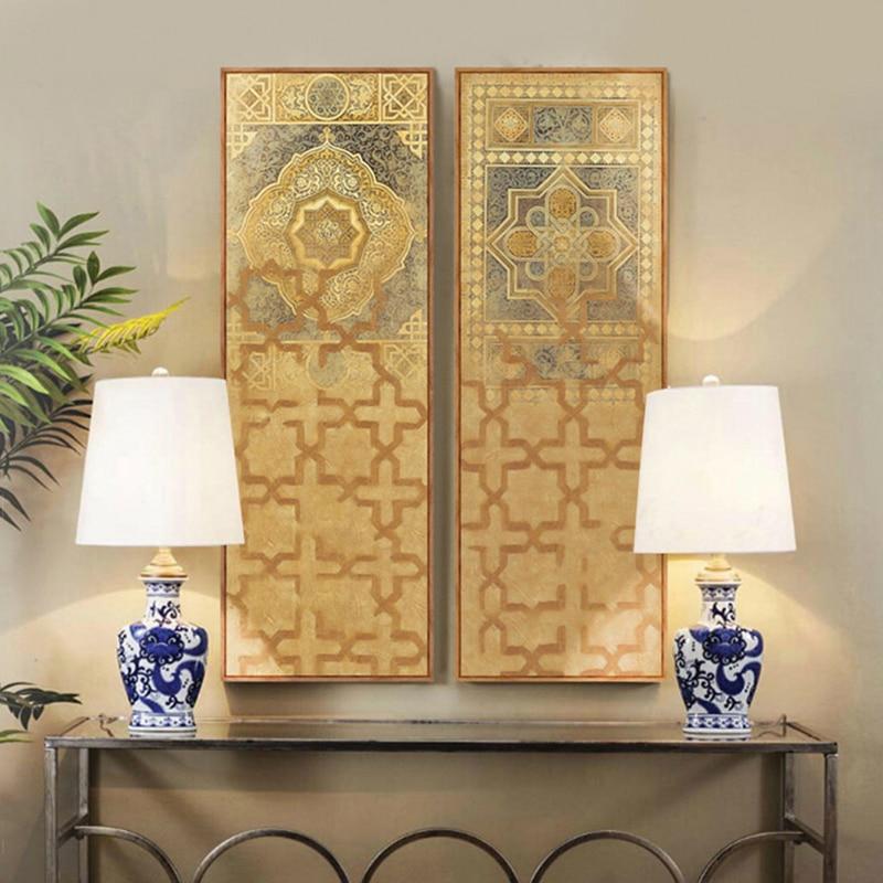 Nahen Osten Türkei Marokkanischen Stil Lange Leinwand Malerei Für Wohnzimmer  Wand Wohnkultur Tableau Dekoration Murale Duvar Tablolar