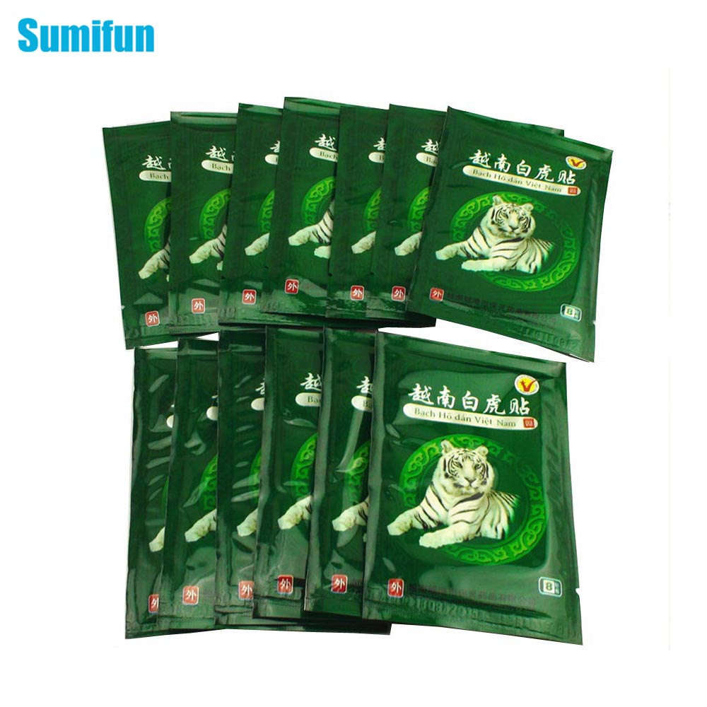 Sumifun 16Pcs Vietnam White Tiger Balm Pain Patch Muscle Shoulder Neck Arthritis Chinese Herbal Medical Plaster C068Sumifun 16Pcs Vietnam White Tiger Balm Pain Patch Muscle Shoulder Neck Arthritis Chinese Herbal Medical Plaster C068