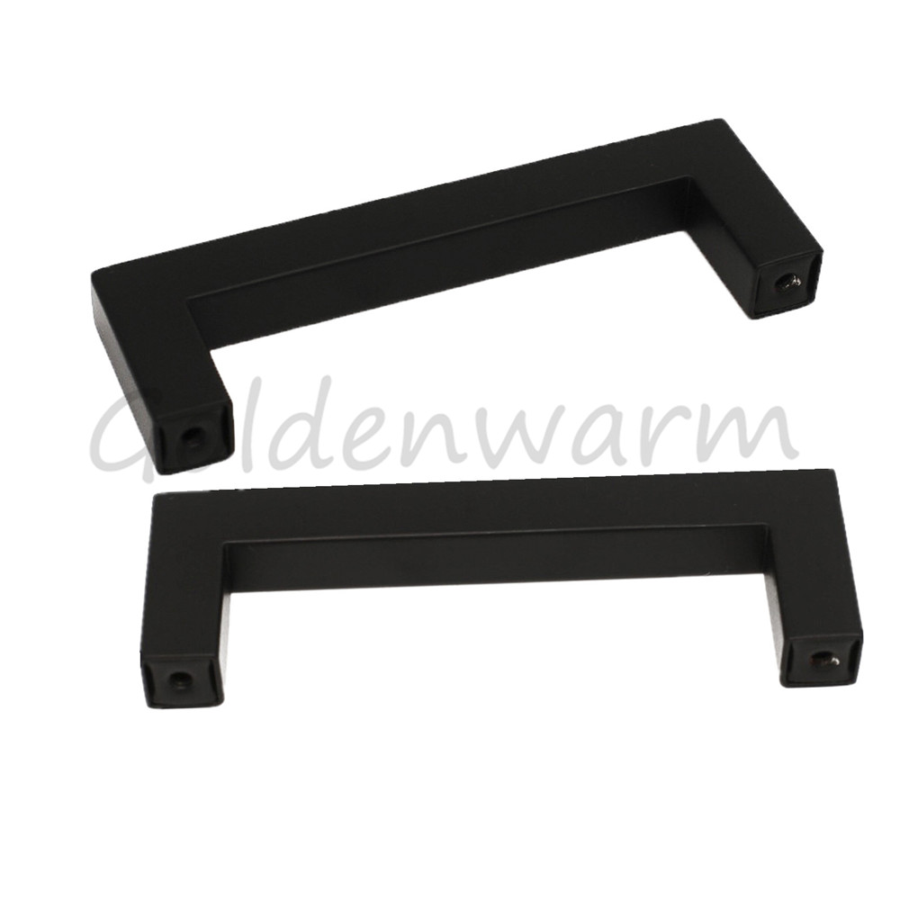 Black Cabinet Handles Drawer Pulls Goldenwarm 3 inch Stainless Steel ...