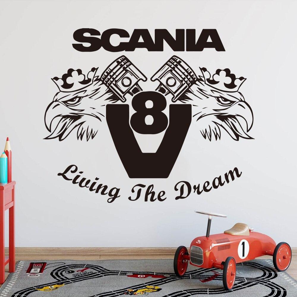 Decals für LKW-Dekor für Scania blau 5,5 x 6,8 cm