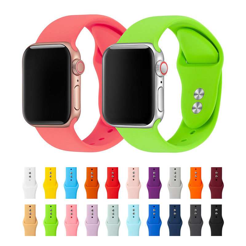 Bracelet For Apple Watch Band 38mm 40mm 42mm 44mm Double Buckle Silicone Iwatch Strap Bands For Apple Watch Series 4,3,2,1 81024
