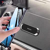 Soporte magnético para teléfono de coche Yesido C55 mini con forma de tira para iPhone Samsung Xiaomi con imán de pared y GPS para coche tablero de instrumentos