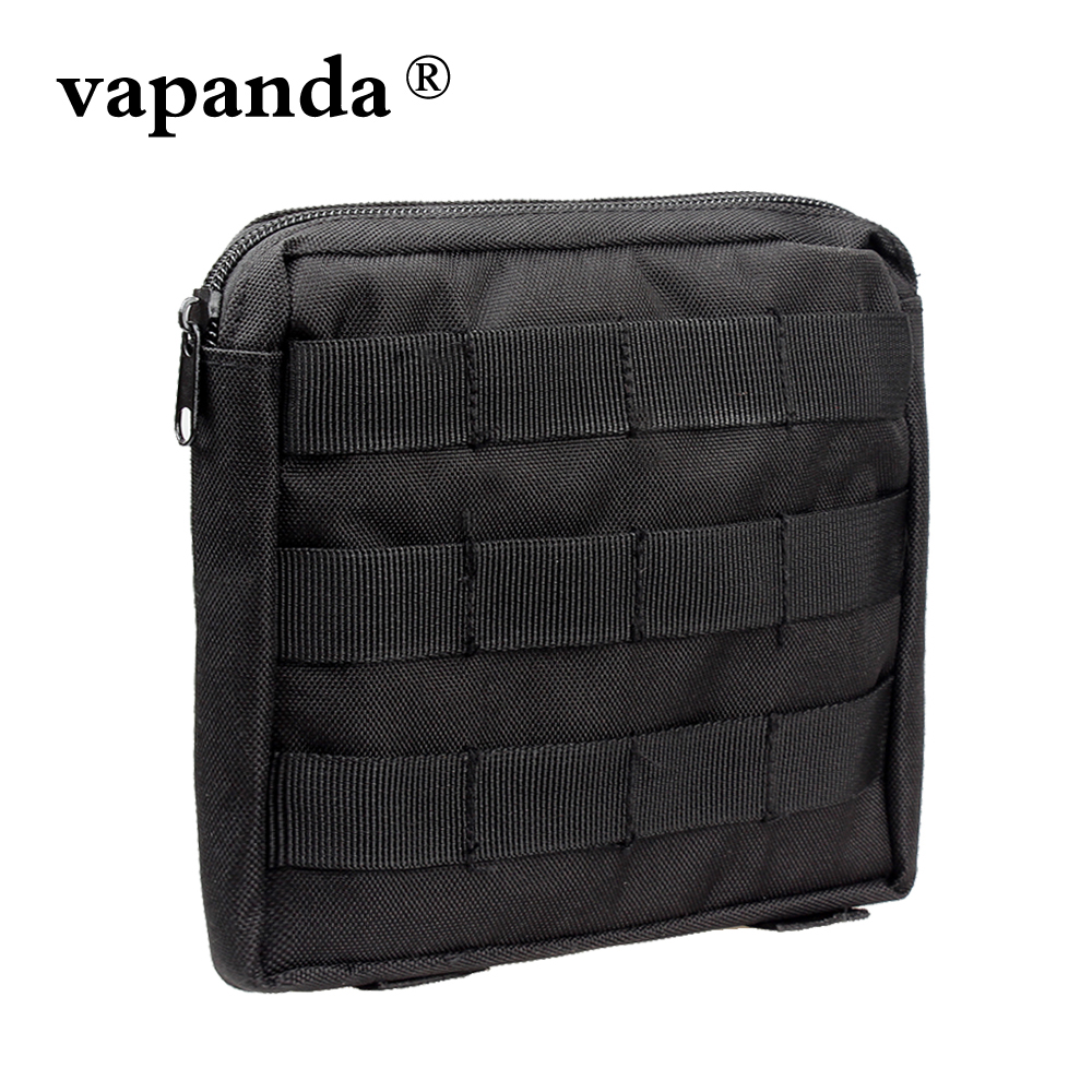 Vapanda Pouch Nylon Molle Bag Tactical Waist EDC Tool Gear Survival Waterproof Back Waist Outdoor Utility Phone Case Molle Pouch cqc tactical molle system medical pouch utility edc tool molle pouch waist pack phone pouch hunting 1000d molle bag