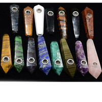 Holiday gifts 15 kinds of natural stone crystal bar smoking pipe wholesale prices