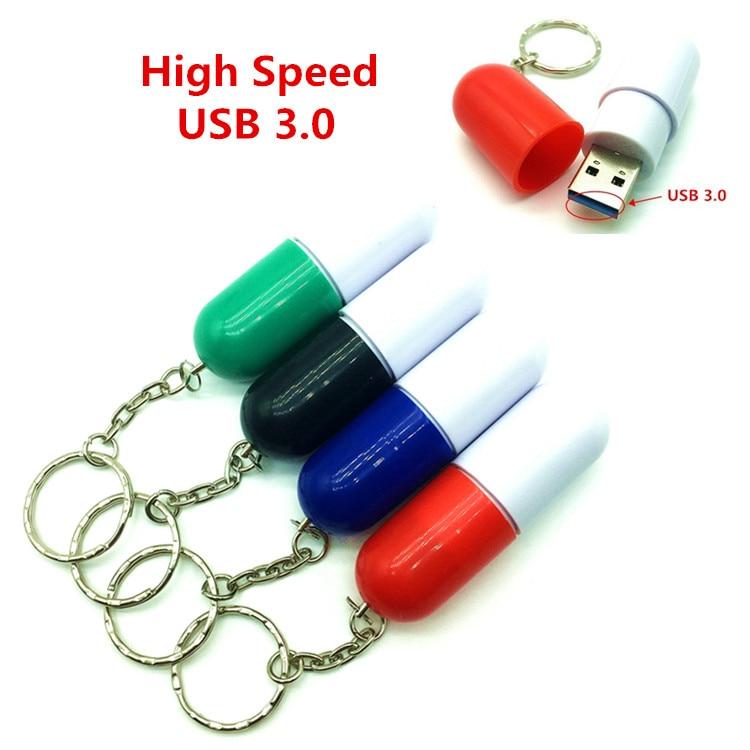 High Speed USB 3.0 pill Shape USB flash drive pen drive 4GB 8GB 16GB medicine Memory Stick usb pendrive usb creativo Gift