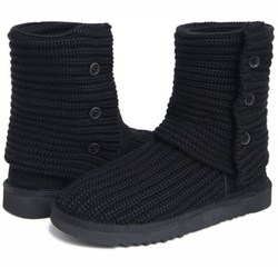 2018 new fashion Australian wool boots 3 button short boots knit thick wool snow boots brand IVG with gifts