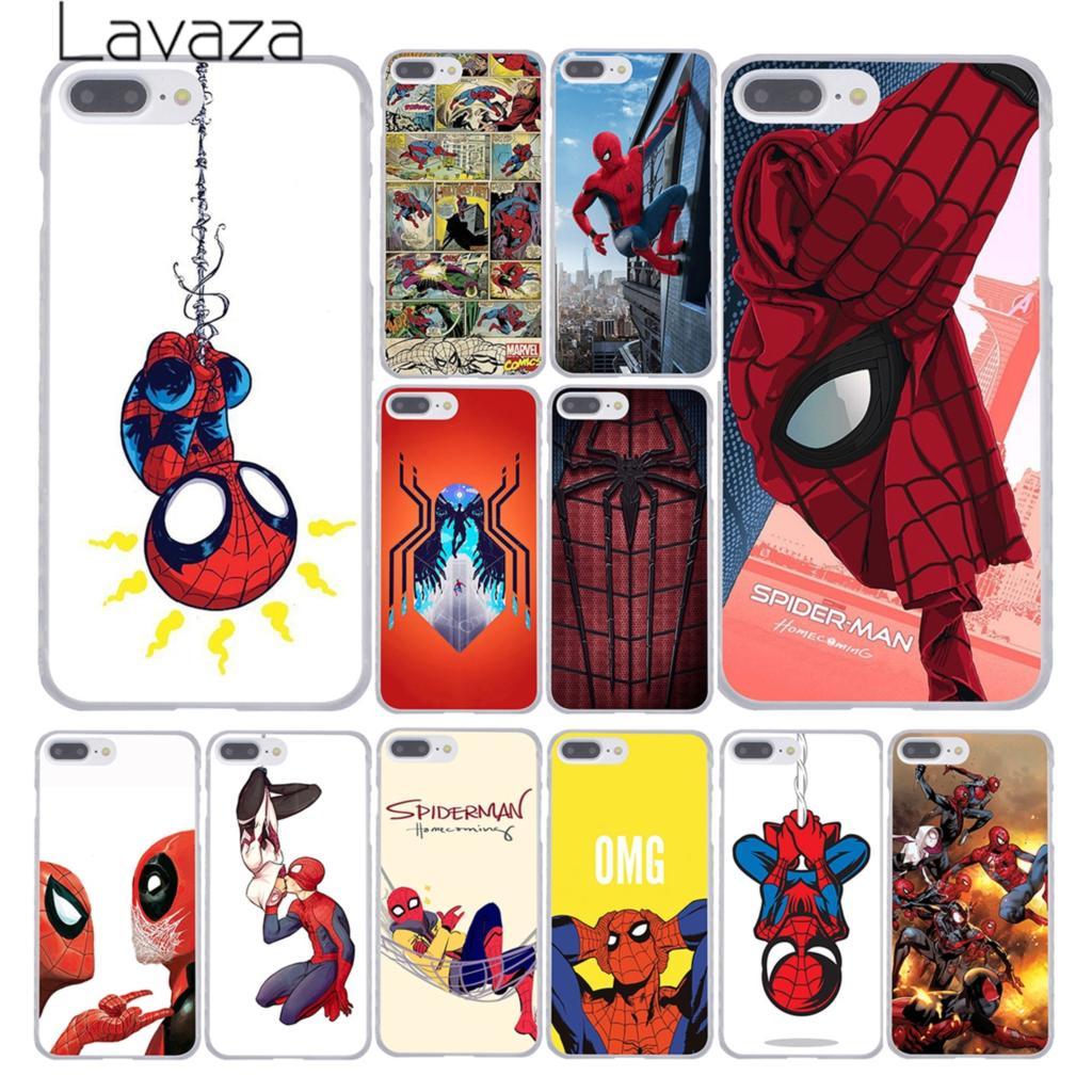 Lavaza <font><b>Marvel</b></font> <font><b>Spider</b></font>-<font><b>Man</b></font> <font><b>Spider</b></font> <font><b>Man</b></font> Comics Homecoming Phone <font><b>Case</b></font> <font><b>for</b></font> Apple <font><b>iPhone</b></font> 10 X 8 7 <font><b>6</b></font> 6s <font><b>Plus</b></font> 5 5S SE 5C 4 4S Coque Shell