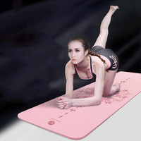 FEWIYONI 183x80x0.8cm non slip yoga mat TPE bag and rope double pilates gym exercise mat fitness mat +Yoga Bag
