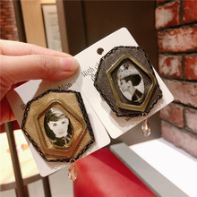 Korea Handmade Vintage Leather Crystal Beauty Badge Brooches Pins Fashion Jewelry Woman Accessories-JQGWBH033E