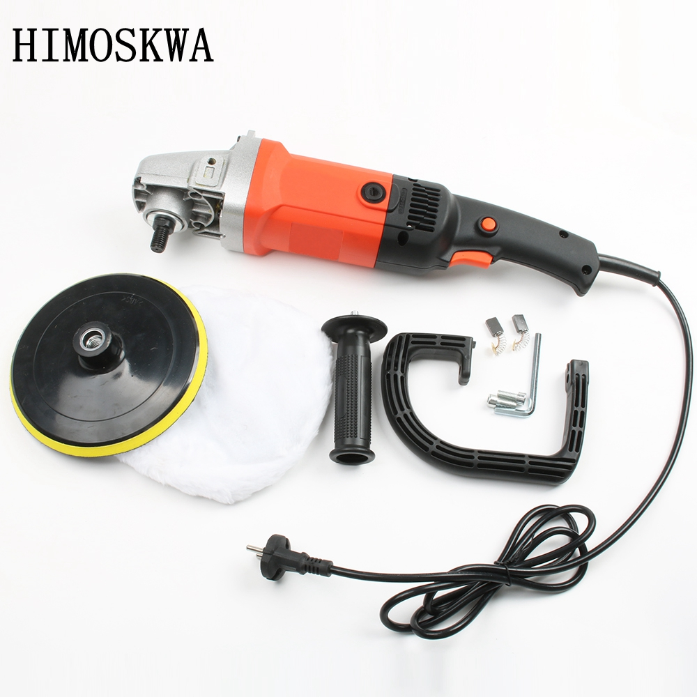 HIMOSKWA 220V 180mm Car Polisher Car Paint Care Polish Machine Surface repair and polishing of home marble tile