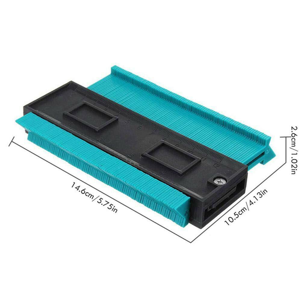 Купить с кэшбэком Gauge Contour Profile Copy Gauge Duplicator Standard Wood Marking Tool Tiling Laminate Tiles General Tools 0-120mm Range