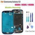 Высокое Качество Ближний Рамка для Samsung Galaxy S3 I9300/I9305/i9300i Замена Передней Корпус Экрана Рамка Запчастей