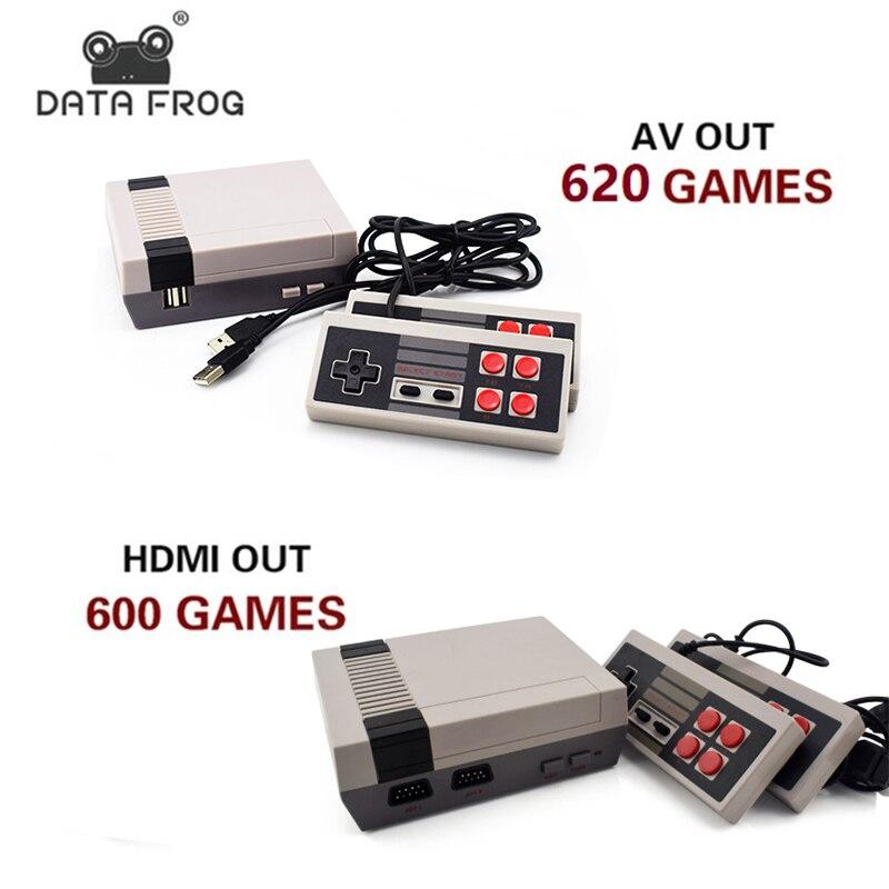 Daten Frosch Mini TV Spielkonsole Unterstützung HDMI/AV 8 Bit Retro Video Spiel Konsole Eingebaute 600/620 Spiele Handheld gaming-Player